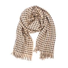 Hatch acrylic knit scarf