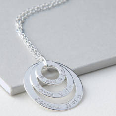 Personalised eternity trio necklace