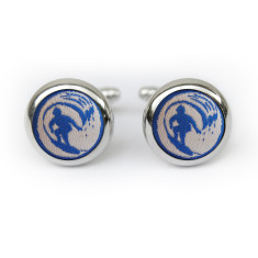 Blue Surfer Cufflinks