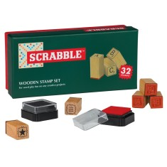 Scrabble wooden stamp set