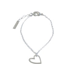 Heart bracelet in silver or gold
