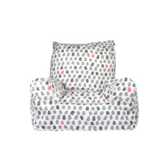 Paint Splotches - Grey and Pink Bean Chair Cover