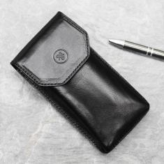 Gabbro Italian leather glasses case