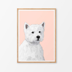 Westie illustrated print