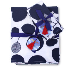 Tablecloth & napkin set eucalyptus mood indigo