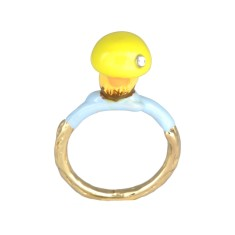 Yellow mushroom ring