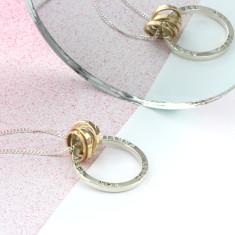Personalised Scroll Hoop Necklace