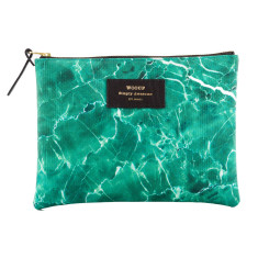 Woouf Pouch Large - Green Marble