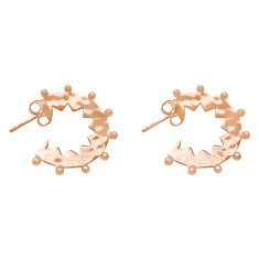 Maya small hoop earrings in rose gold plate
