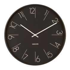 Wall Clock Elegant in Black