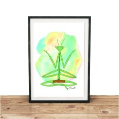 Meditating Mantis Giclee Print