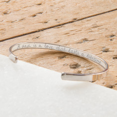 Personalised open bangle for Men