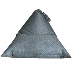 Kid's dark grey quilted bean bag cover