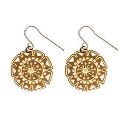 Gold bloom earrings