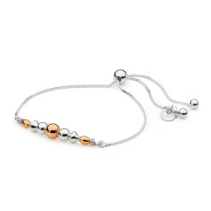 Sterling silver bead sliding friendship bracelet