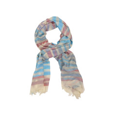 Dream soft pink/turquoise cotton scarf