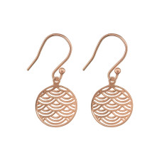 Fan earring in rose gold