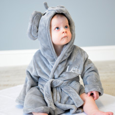 Personalised Soft Elephant Dressing Gown