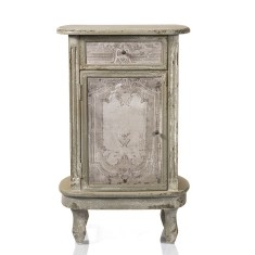 French country look bedside table