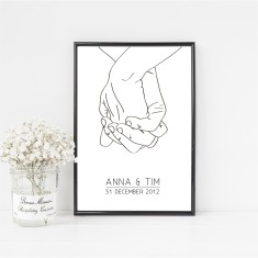 Personalised Two Hands Print