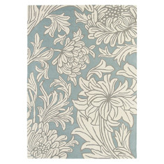 Brink & Campman presents William Morris 'Chrysanthemum' Rug in China Blue & Cream