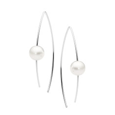 Sterling silver and pearl ear wire