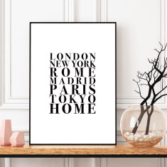 No place like home art print (various sizes)