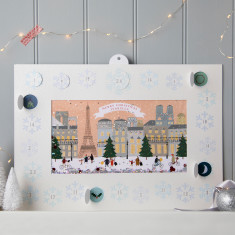 Personalised shakies Paris advent calendar