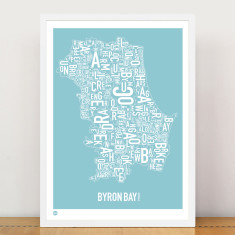 Byron Bay typographic print