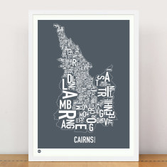Cairns type print