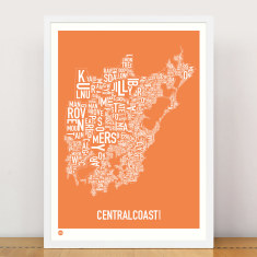 Central Coast typographic print