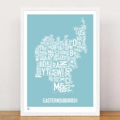 Eastern Suburbs type print