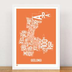 Geelong type print
