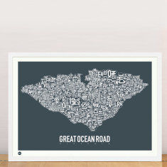 Great Ocean Road typographic print
