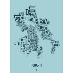 Hobart canvas print (various colours)