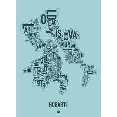 Hobart canvas print (various colours)