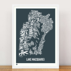 Lake Macquarie type print