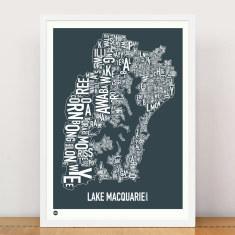 Lake Macquarie type print