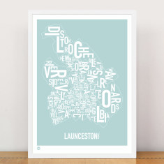 Launceston type print