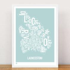 Launceston type print