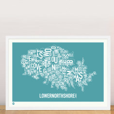 Lower North Shore type print