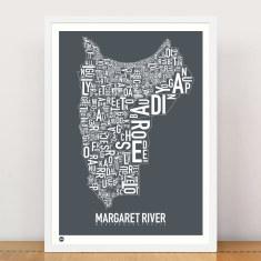 Margaret River typographic print