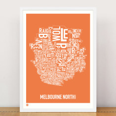 Melbourne North type print
