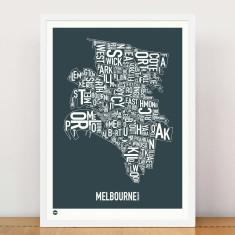 Melbourne typographic print
