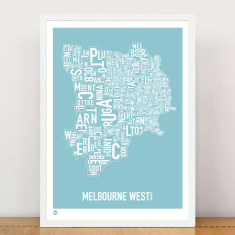 Melbourne West type print