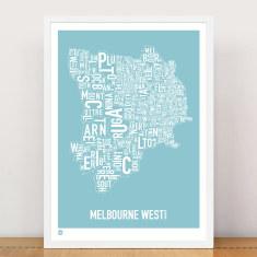 Melbourne West type print