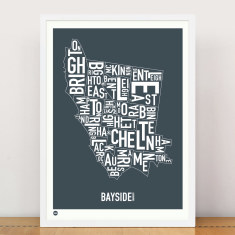 Melbourne Bayside type print