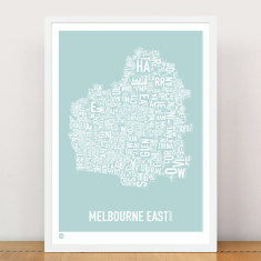 Melbourne East type print