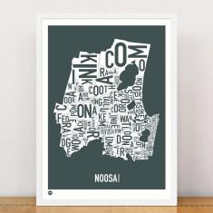 Noosa typographic print