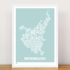 Northern Beaches type print